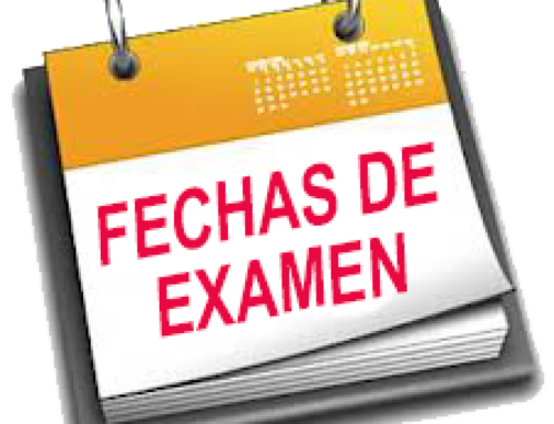 Calendario de exámenes de septiembre 2020