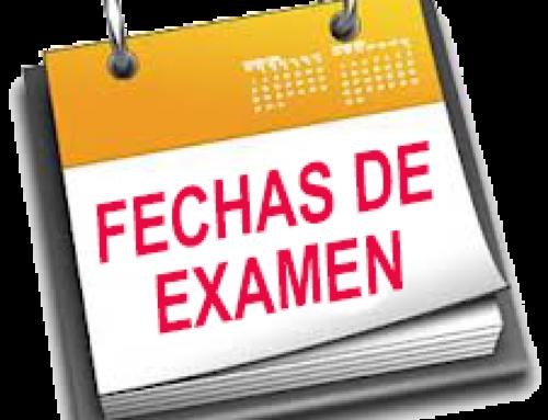 Calendario de exámenes de septiembre 2021